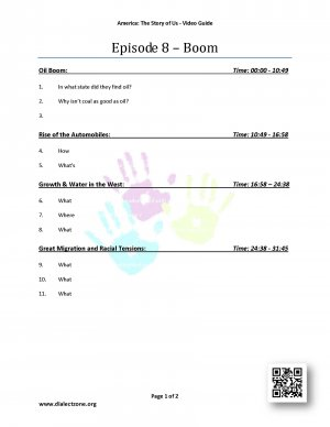 Episode 8 - Boom - Worksheet