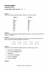 Minimal Pairs Worksheet Hit - It