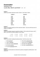 Minimal Pairs Worksheet Meat - Neat
