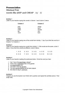 Minimal Pairs Worksheet Jeep - Cheap