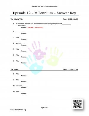 America the story of us episode 12 millennium worksheet answers