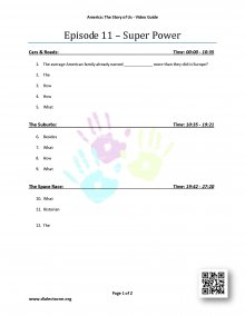 Episode 11 - Super Power - Worksheet