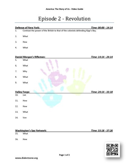 America The Story Of Us - Complete Worksheets - Click Image to Close