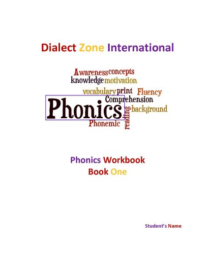 Phonics Workbook - Book One - Click Image to Close